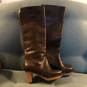 Marni Brown leather pull up boots